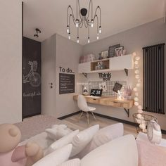 Vibrant teen girl bedrooms transformation for a impressive teen girl room design, pin number 8471832914 Room Ideas Bedroom, Girl Bedroom Designs, Small Room Bedroom, Home Bedroom, Bedroom Decor, 1920s Bedroom, Nursery Decor, Cute Room Decor, Teen Room Decor