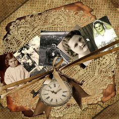 My Mom ~ Striking 'through the years' heritage digi page. Love the casual photo placement. Scrapbooking Layouts Vintage, Vintage Scrapbook, Digital Scrapbooking, Scrapbook Layouts, Heritage Scrapbook Pages, Scrapbook Journal, Scrapbook Cards, Scrapbook Templates, Family History Book
