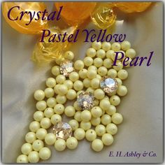Swarovski's Crystal Pastel Yellow Pearl seen in 5810 6mm at www.ehashley.com #Swarovski #Pastels #Pearls #Bling #Crystals