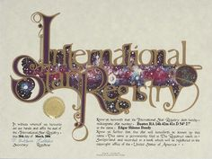 Edgar Shlomo Bondy - Bootes - Name a Star : Buy a Star : International Star Registry : Order@ starregistry.com
