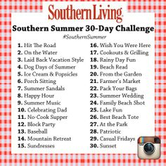 instagram challenge   Southern Living Summer Instagram Challenge   Inspirations & Quotations