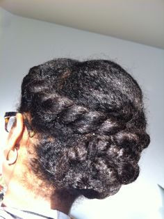 Simple Braided Bun with Jumbo Twist