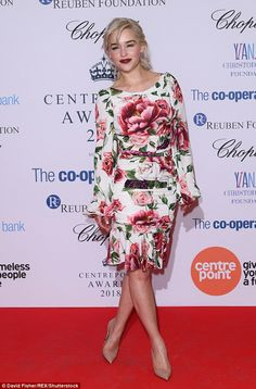 Beautiful: Emilia Clarke once again stole the show when she attended the Centrepoint award...