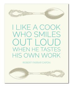 'I Like a Cook' Print | something special every day