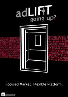 adLift Poster by Matt Corbett, via Behance Advertising, Behance, Poster, Billboard