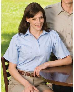 Ed Garments Women's Button Down Short Sleeve Flyer Shirt. 5210 Ed Garments. $26.99