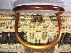 A personal favorite from my Etsy shop https://www.etsy.com/listing/510136567/wicker-handbag-vintage-wt-grant-lucite
