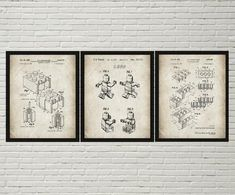 Lego Patent Posters Lego Toys Lego Patent Printabl #Art #Blueprint #Deco #decor #films #Kids #Lego #Nursery #Patent #Poster #Posters #Printable #Room #Toys #Wall Lego Film, Kids Room Wall Art, Nursery Wall Art, Nursery Decor, Lego Patent, Oil Based Sharpie, Sharpie Paint Markers, Airplane Wall Art, Aviation Decor