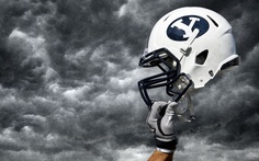 BYU beats Texas in football 40 to 21 Football And Basketball, College Football, Football Helmets, Byu Sports, Brigham Young University, Boy Wall Art, Best University, Pool Towels, Fantasy Football