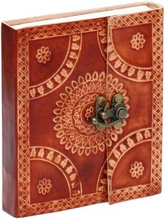 """Arty Collections - 6"""" Writing Journal / Scrapbook With Handmade Paper & Embossed Leather Cover - Buy in Bulk Wholesale"""