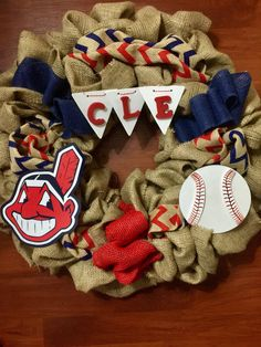 A personal favorite from my Etsy shop https://www.etsy.com/listing/516772233/cleveland-indians-wreath-tribe-cle