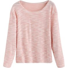 Pink Slub Long Sleeve T-shirt (9.41 CAD) ❤ liked on Polyvore featuring tops, t-shirts, pink, sweaters, blusas, long sleeve stretch tee, long sleeve tops, pink long sleeve top, long sleeve tees and polyester t shirts