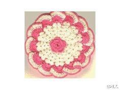 February 20, 2012  Raised Rose Potholder ~~~ Lee Ann H. (crochetgottaloveit.blogspot.com)