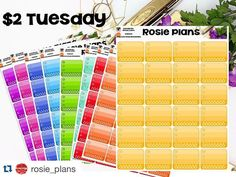 Check out @rosie_plans ! She's having a sale today on meal tracking stickers!   $2 Tuesday. Full sheet meal tracker stickers in multiple colors. Each sheet has 24 stickers so this deal is steal. You can even use the discount codes.  #planneraddict #weloveec #dokibook #kikkik #limelifeplanner #erincondren #eclp #erincondrenplanner #planner #plannermom #rosieplans #planneraddict #plannerdecoration #plannercommunity #plannerjunkie #wlec #planner #happyplanner #happyplannersisters #lj_plannerfun…