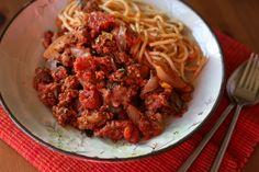 Quick Spaghetti Bolognese @ http://allrecipes.co.uk
