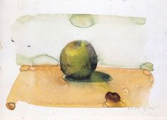 Gerhard Richter » Art » Watercolours » Apple (9.1.1987)