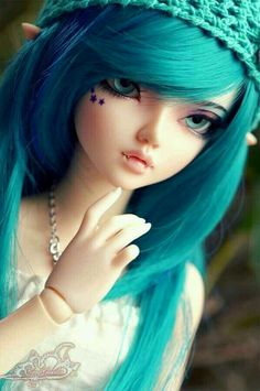 Not Chloe but MF WooSoo vampire elf. little KAt Von D stars. Beautiful Barbie Dolls, Pretty Dolls, Ooak Dolls, Blythe Dolls, Enchanted Doll, Kawaii Doll, Gothic Dolls, Realistic Dolls, Anime Dolls