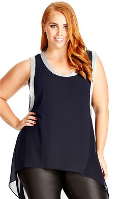 City Chic Glam It Up Top - Women's Plus Size Fashion City Chic - City Chic Your…