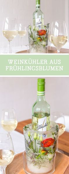 Free # DIY instruction with our partner Blanchet: Ice cooler made of ice and . - DIY Anleitungen / Do It Yourself: Crafting Tutorials - Wein
