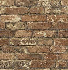 """Gentlemen's Quarters Oxford 33' x 20.5"""" Brick Wallpaper"""