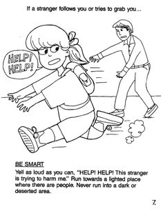 stranger safety coloring page printable coloring pages stranger