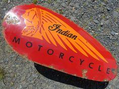 Indian Motorcycle Vintage Porcelain Sign (Old Antique Biker Gas Tank Advertising Sign) Vintage Bikes, Vintage Motorcycles, Indian Motorcycles, Advertising Signs, Vintage Advertisements, Indian Motors, Vintage Lunch Boxes, Porcelain Signs, Cold Porcelain