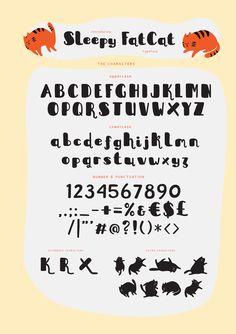 Sleepy FatCat Typeface by me55enjah. Get it on MarketMe (@AgenceMe_Market)