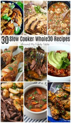 One Month of Slow Cooker Recipes is all you need to successfully complete a round of Easy dinners are the best, especially while trying to lose weight or get healthy. Whole 30 Crockpot Recipes, Easy Whole 30 Recipes, Slow Cooker Recipes, Paleo Recipes, Whole Food Recipes, Dinner Recipes, Ketogenic Recipes, Lunch Recipes, Easy Recipes