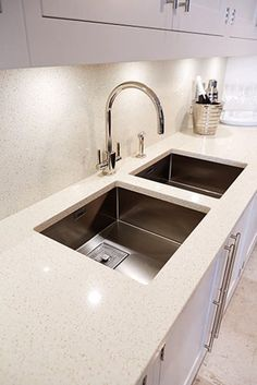 Luxury Kitchen Sinks modern contemporary square swivel spout twin lever kitchen sink