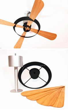 Flat-Pack Fan: Bamboo Design Slides into Simple Metal Slots