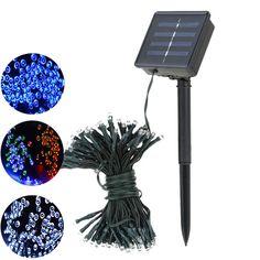 Multi-Colour 10 Lanterns. Kingfisher Solar LED Chinese Coloured Lanterns