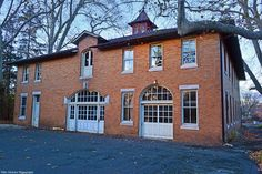 Front and Side View of the Carriage House and Stables.