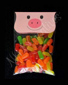 Pig Treat Bag Topper - DIY Printable Digital File - For Baby Shower or Kids Party