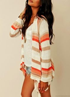 Tri colored blouse with V neck shirt and short