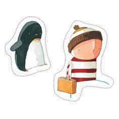 Make Boy & Penguin Puppets - Oliver Jeffers Stuff Oliver Jeffers, Preschool Books, Free Preschool, Eyfs Activities, Educational Activities, Disney Concept Art, Crafts For Boys, Art N Craft, Children's Picture Books