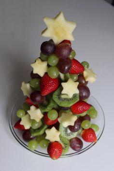 Gesunde und kreative Idee für ein Weihnachtsbuffet