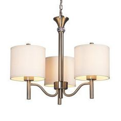 Galaxy Ansley 3-Light Brushed Nickel Hardwired Standard Chandelier