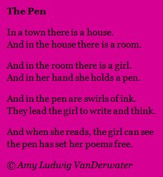 This poem is about how a writer can discover ideas and dreams and poems through the act of writing.  We do not always know what to say before we write; sometimes we find out what we have to say AS we write.  From The Poem Farm, a blog full of poems and poem mini lessons and poetry ideas, written straight for students and classrooms and all who love poetry - www.poemfarm.amyl...
