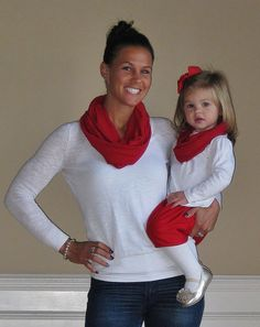 ADDITIONAL COLORS Mother/Daughter Infinity Scarf Set