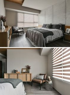 Bedroom Design Idea - 7 Ways To Create A Warm And Cozy Bedroom // Bringing more furniture into your bedroom, like an arm chair, lounge, or couch, cozies up the space by taking up more room and adding more texture.