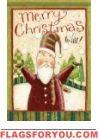 Merry Santa House Flag Merry Christmas Santa, Country Christmas, Seasonal Decor, Holiday Decor, Side Garden, House Flags, Flag Design, Country Primitive, Garden Flags