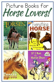 Fill your book baskets with horse books for kids. This collection of fiction and nonfiction picture books is perfect for animal lovers! Horse Books, Animal Books, Hands On Activities, Activities For Kids, Book Baskets, All About Horses, Preschool Books, Fiction And Nonfiction, Book Lists