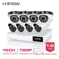 449.99$  Buy now - http://ali92t.worldwells.pw/go.php?t=32513206518 - H.View 16CH CCTV System 720P HDMI AHD 16CH CCTV DVR 4 1.0 MP IR Outdoor Security Camera 1200 TVL Camera Surveillance System