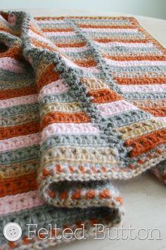 Arlington Blanket Crochet Pattern by Susan Carlson of Felted Button