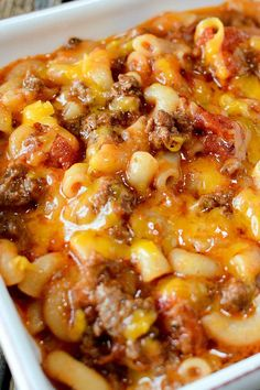 OLD FASHIONED GOULASH From My Incredible Recipes is number 16 on our list :: Click HERE for the RECIPE This is one of those meals that everyone always loves. It's beefy, cheesy and filled with pasta goodness. It's the ultimate comfort food that a hungry family will gobble right up. Best of all, it's super easy to make. #recipe #dinner #cheesy #beef #comfort #food #recipes #pasta