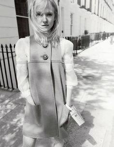 A Fendi FW15 wool dress featured in Harper's Bazaar UK.