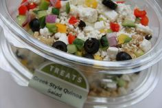 You can't concentrate when you're hungry! Our #Greek style quinoa salad is the perfect brain food! http://bit.ly/1FYSacM