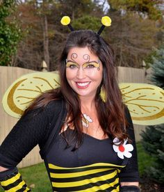 Bumblebee Face Painting.
