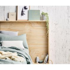 You'll find six stylish DIY ideas in the latest issue of *real living*. First up? Make your own double duty bedhead.