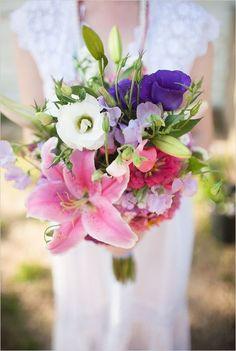 Najpiękniejsze bukiety ślubne [5]: wielokolorowe wiązanki